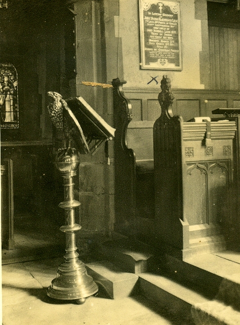 Old photo of the Lectern