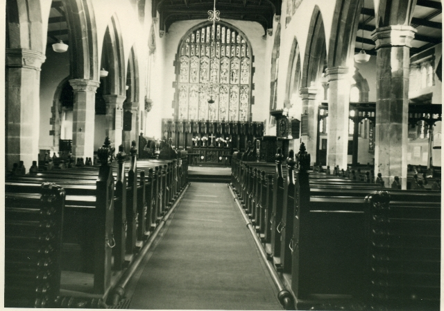 Centre Aisle and Chancel