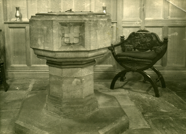 Font in the Baptistry