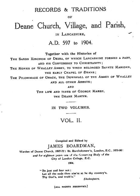 Records and Traditions of Deane Church Volume 2