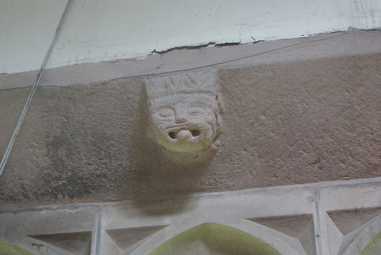 Carving over a window